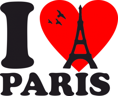 Принт Штаны I love Paris - FatLine