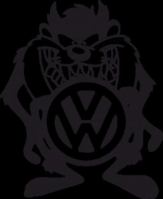 Принт Женские шорты Тасманский дьявол Volkswagen - FatLine