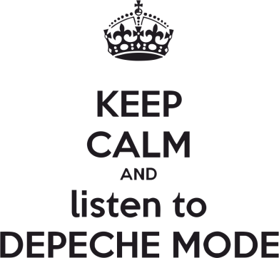 Принт Женская толстовка KEEP CALM and LISTEN to DEPECHE MODE - FatLine
