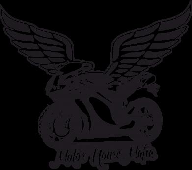 Принт Мужская футболка  с V-образным вырезом Байк с крыльями - FatLine