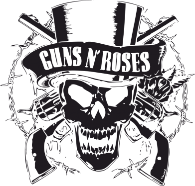 Принт Женская футболка Guns n' Roses Logo - FatLine