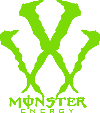 Принт Наклейка Monster Energy W - FatLine