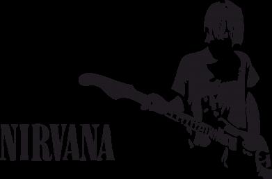 Принт Камуфляжная футболка Гитарист Nirvana - FatLine