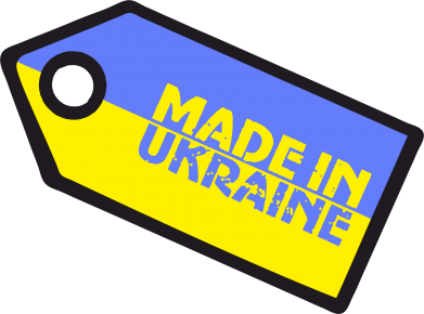 Принт Кружка 320ml Made in Ukraine бирка - FatLine