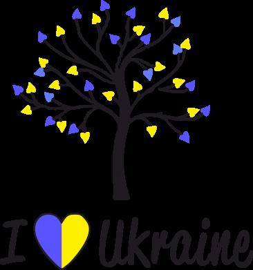 Принт Подушка I love Ukraine дерево - FatLine