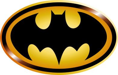 Принт Шапка Batman logo Gold - FatLine