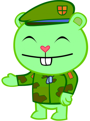 Принт Майка-тельняшка happy tree friends flippy - FatLine