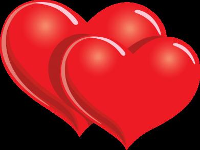 Принт Женская толстовка Два сердца - FatLine
