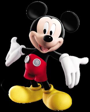 Принт Мужская футболка  с V-образным вырезом Радостный Микки Маус - FatLine