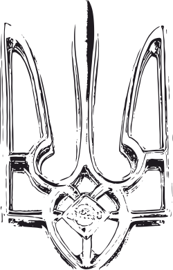Принт Мужская футболка  с V-образным вырезом Герб України рваний - FatLine