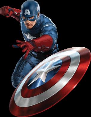 Принт Мужские шорты Капитан Америка - FatLine