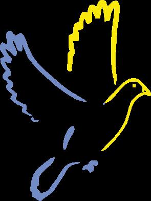Принт Женская футболка с V-образным вырезом Голуб миру - FatLine