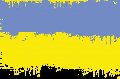 Принт Женская футболка с V-образным вырезом Потертый флаг Украины - FatLine