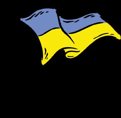 Принт Мужская толстовка Украинский флаг, Фото № 1 - FatLine