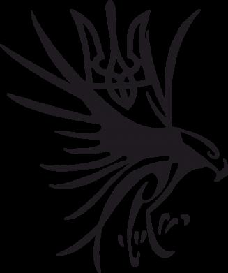 Принт Коврик для мыши Сокіл та герб України - FatLine