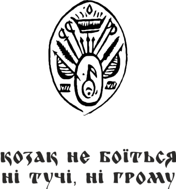 Принт Мужская толстовка Козак не боїться ні тучи, ні грому (з гербом), Фото № 1 - FatLine