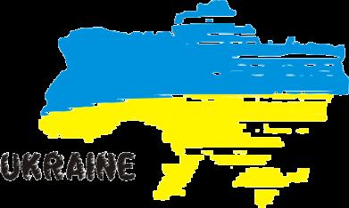 Принт Женская толстовка Карта України з написом Ukraine - FatLine