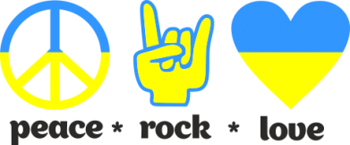 Принт Фартук Peace, Rock, Love - FatLine
