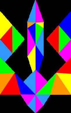 Принт Мужская толстовка Кольоровий герб, Фото № 1 - FatLine