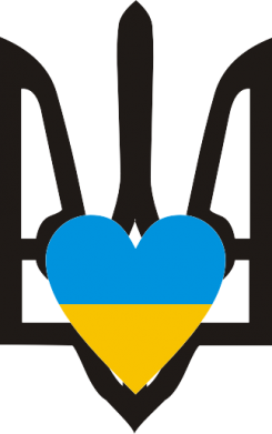 Принт Тельняшка с длинным рукавом Герб з серцем - FatLine