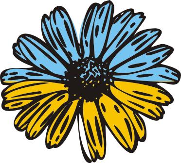 Принт Женская футболка с V-образным вырезом Українська квітка - FatLine