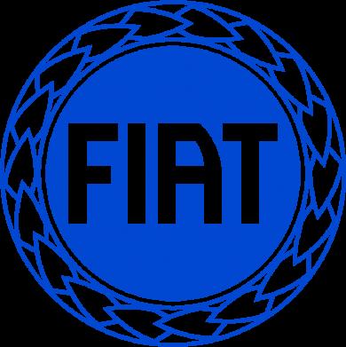 Принт Мужская футболка  с V-образным вырезом Fiat logo - FatLine