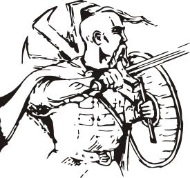 Принт Мужская футболка  с V-образным вырезом Козак з щитом - FatLine