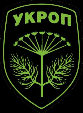 Принт Мужская футболка  с V-образным вырезом Шеврон Укропа - FatLine