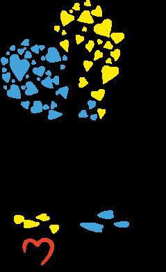 Принт Камуфляжная футболка Я люблю Україну дерево - FatLine