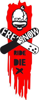 Принт Фартук Free Snow Ride - FatLine