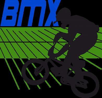 Принт Мужская футболка  с V-образным вырезом BMX Sport - FatLine