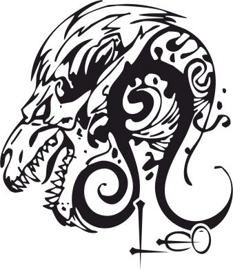 Принт Женская футболка с V-образным вырезом Leo (Лев) - FatLine