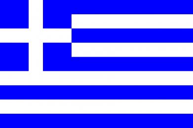 Принт Мужская толстовка на молнии Греция - FatLine