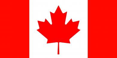Принт Женская футболка с V-образным вырезом Канада - FatLine