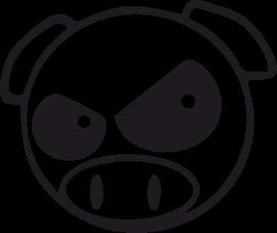Принт Наклейка Злая свинка - FatLine