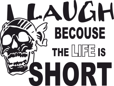 Принт Кружка-хамелеон Laugh becouse Life is short - FatLine