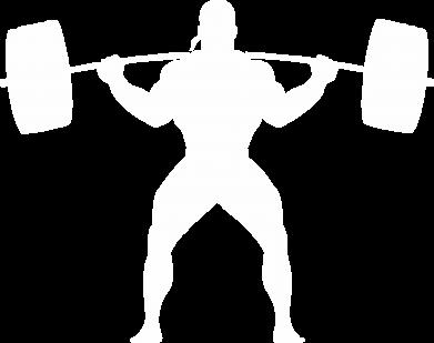 Принт Женская футболка с V-образным вырезом Спортсмен со штангой - FatLine