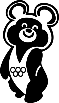 Принт Женская футболка поло Олимпийский Мишка - FatLine