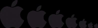 Принт Фартук Apple Evolution - FatLine
