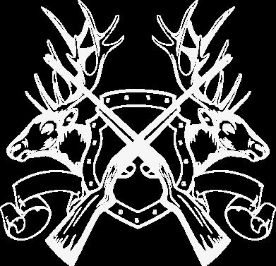 Принт Мужская толстовка на молнии Герб Охотника - FatLine