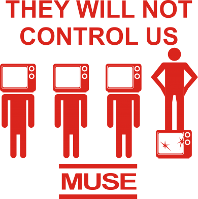 Принт Реглан MUSE They will not control us - FatLine