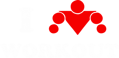 Принт Футболка Поло I love workout - FatLine