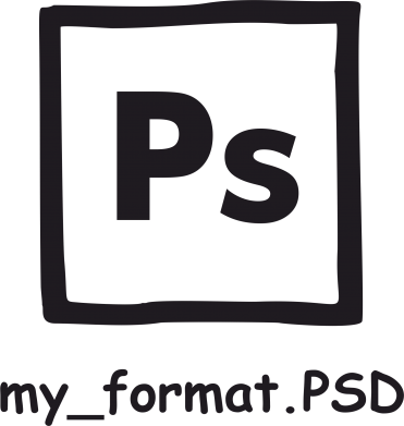 Принт Наклейка Photoshop psd - FatLine