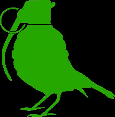 Принт Кружка 320ml Птичка с гранатой - FatLine
