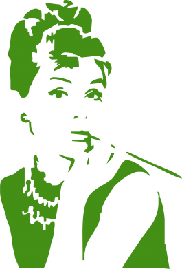 Принт Подушка Девушка красит губы - FatLine