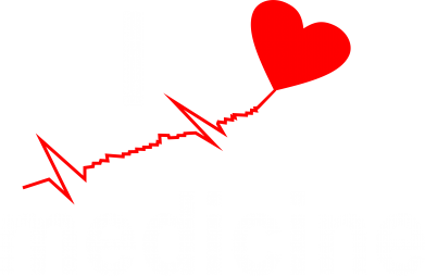 Принт Футболка Поло I love medicine - FatLine