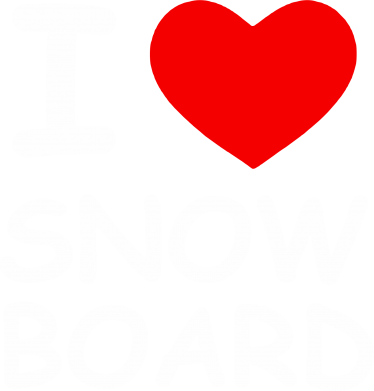 Принт Майка-тельняшка I love Snow Board - FatLine