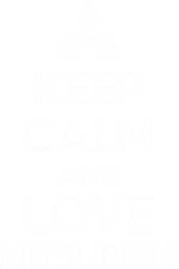Принт Футболка Поло Keep calm an love mitsubishi - FatLine