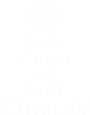 Принт Майка-тельняшка KEEP CALM AND PRAY CTHULHU - FatLine