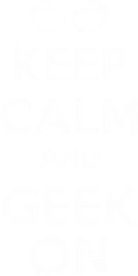 Принт Майка-тельняшка KEEP CALM and GEEK ON - FatLine